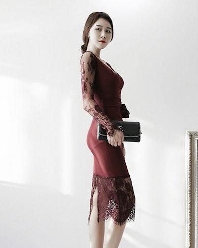 ジョーゼットリボン ドレス