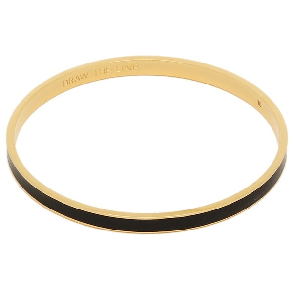 KATE SPADE ブレスレット ケイトスペード WBRU1957 001 DRAW THE LINE - SOLID IDIOM BANGLES バングル ブラック/ゴールド