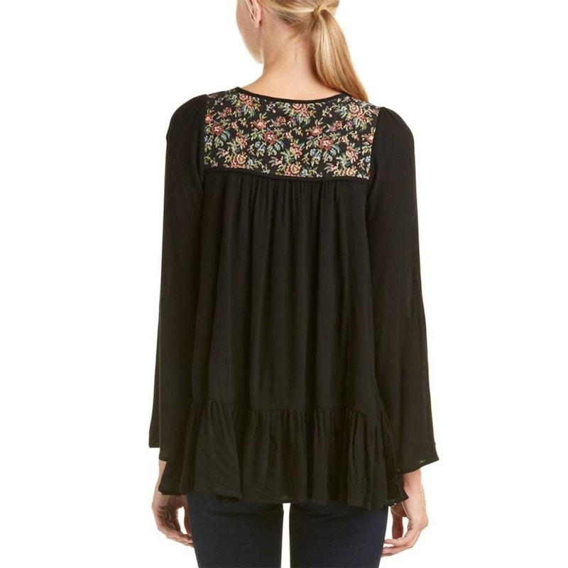 アナマ レディース トップス ブラウス【Anama Embroidered Blouse】Black