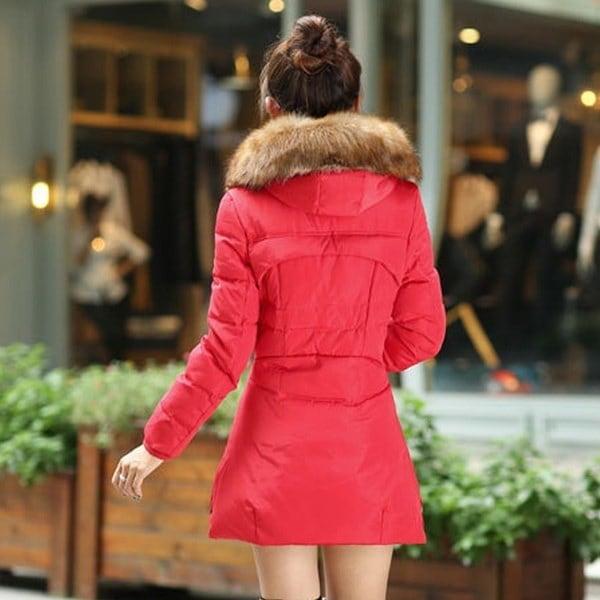 2017女性のファッションロングスリーブファーコート冬暖かいS  -  7XL