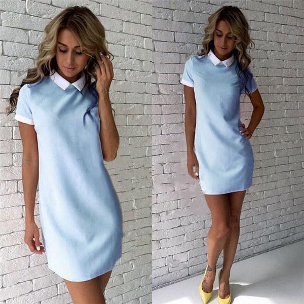 Women Summer Casual Short Sleeve Evening Party Cocktail Dress Short Mini Dress