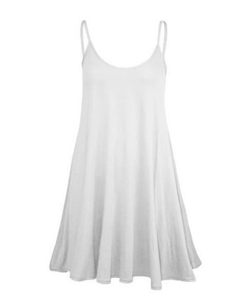 ファンBoho女性シフォンバックレスタンクトップベストカジュアルイブニングパーティーブラウスシャツドレス