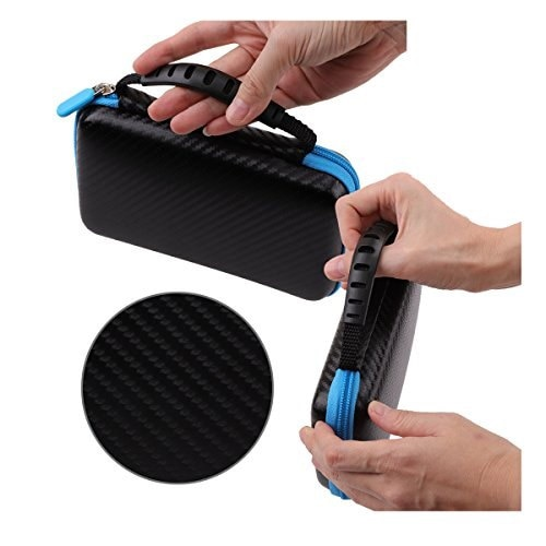 Travel Carrying Case Protective Carrying Case 2DS Case with Wrist Strap for Nintendo 2DS-  polo
