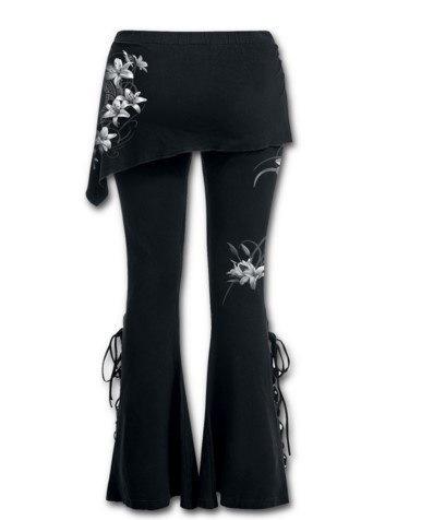 女性パッチワーク長袖刺繍スリムボトミングシャツラージサイズTシャツブラウストップス