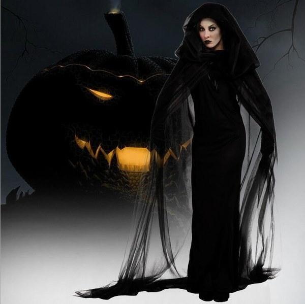 XS〜XXL女性のセクシーな衣装大人の脚の魔女の衣装ハロウィンコスプレ衣装