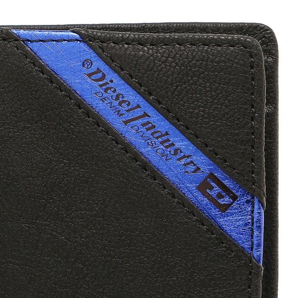 DIESEL 財布 ディーゼル X03611 P1221 H6169 メンズ 二つ折り財布 ブラック/ブルー