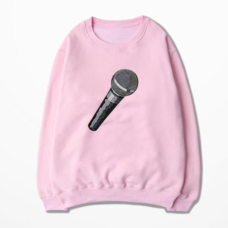 EXO SING FOR YOU マイク  PLANET コンサート同型 裏に起毛タイプ 応援服 SUHO/BAEKHYUN/CHANYEOL/D.O/KAI/SEHUN 長袖トレーナー 男女兼用