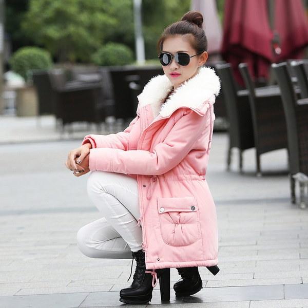 女性のファッションウィンターアウトレットカジュアルウォームコート