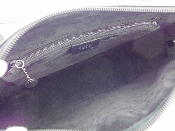 グッチ GUCCI ショルダーバッグ  メンズ可   ブラック レザー×スエード 美品 セール 【中古】 T593 .