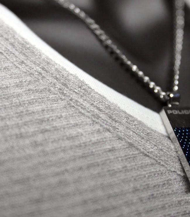 Tシャツ メンズ 長袖 長袖Tシャツ トップス カットソー Vネック 重ね着風 秋 秋冬 インナー ボーダー ブークレフリース フェイク