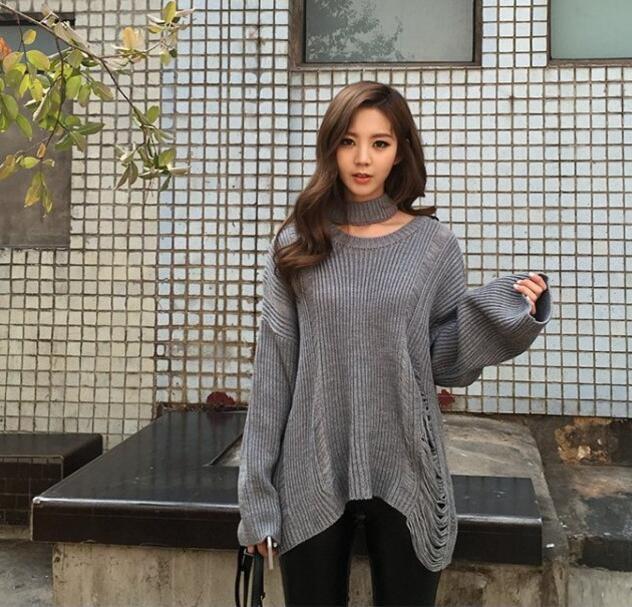 [55555SHOP]017秋冬スクール風ファッション/ニットセーター/青春活力/ラグランスリーブ/後ろリボ