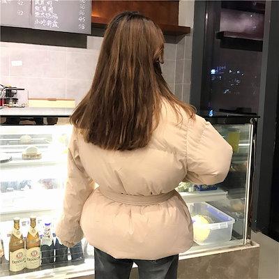 55555SHOP[55555SHOP]  大人気!2019年新品 流行の 韓国ファッション 可愛い/ウエストリボン結び/綿服/ショート/ファッション/シックな風の綿の服/スカーフを送る