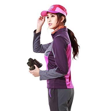 女性のハイキングTシャツキャンプ/ハイキングハンティングフィッシングクライミングエクササイズ&aのための通気性トップ