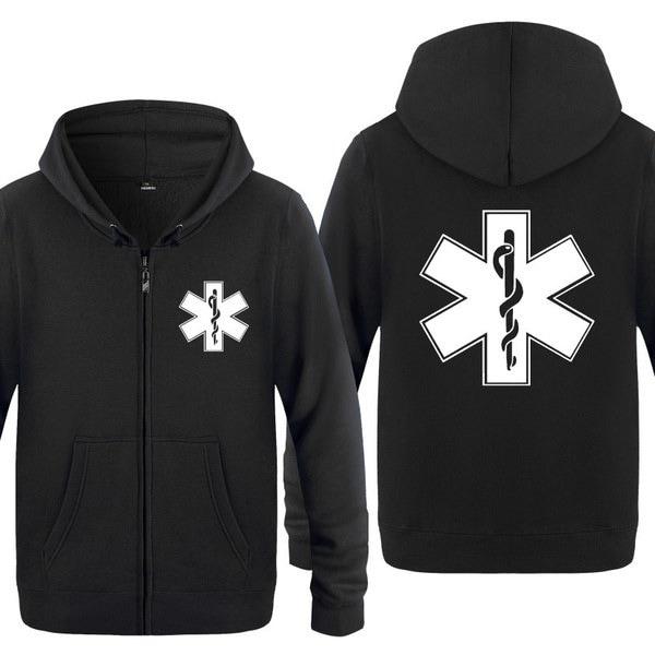 メンズファッションヒットカラーカーディガンフード付きセーター、緊急救命隊のパターン、アヴァンギャルドのトレンド