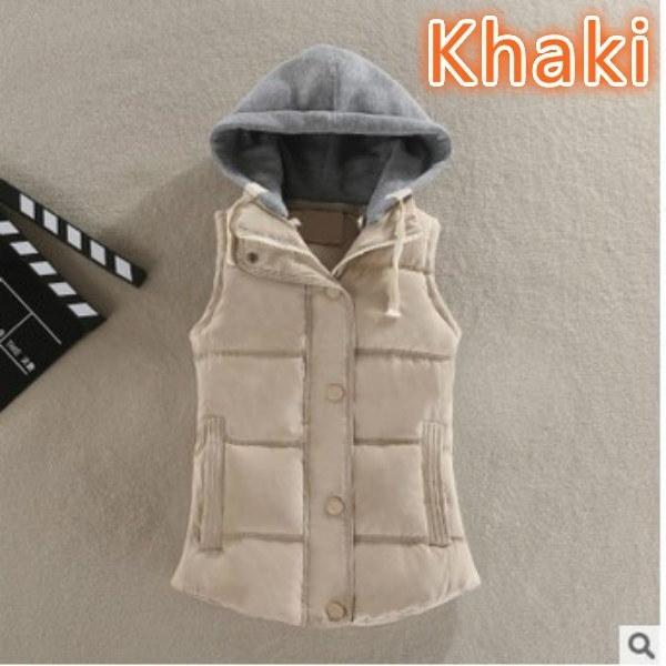 ファッションシンプルな袖の女性はスーパーサイズの冬の暖かいクールウェアタイプのベストL  -  6XL