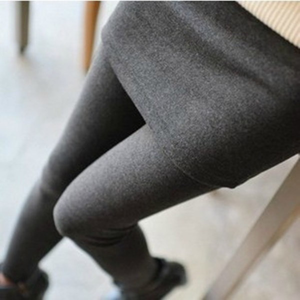 ファッションレディースFalse Two Divided Skirtsショーティンウォーマーレギンスパッケージヒップペンシルパンツズボン