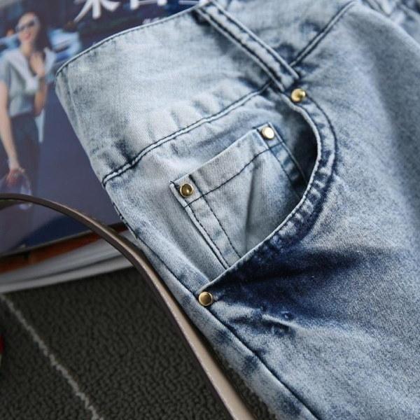 FOファッション女性スキニーローライズジーンズパンツ
