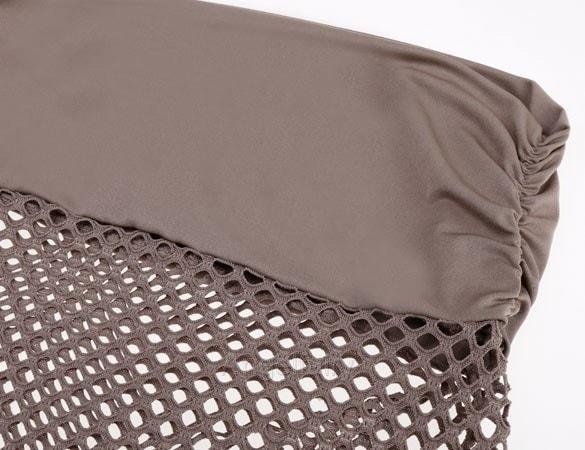 女性メッシュかぎ針編みビキニ水着カバービーチウェアスカートドレス水着A_L CB036031(カラー:Cof