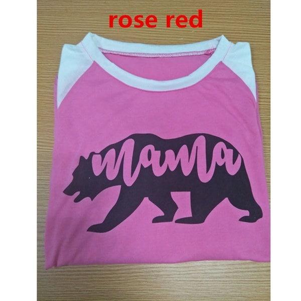 レディース/レディースカジュアルママライフレタープリントブラウスシャツFashion Ladies Wear 3/4 Sleeve Raglan Co
