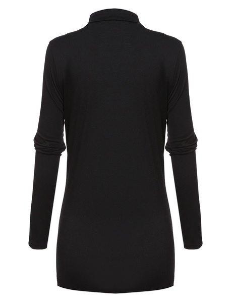 ファッション女性のVネック非対称裾ラップレースアップベルトスリムカジュアルカーディガントップス(サイズ:M、カラー: