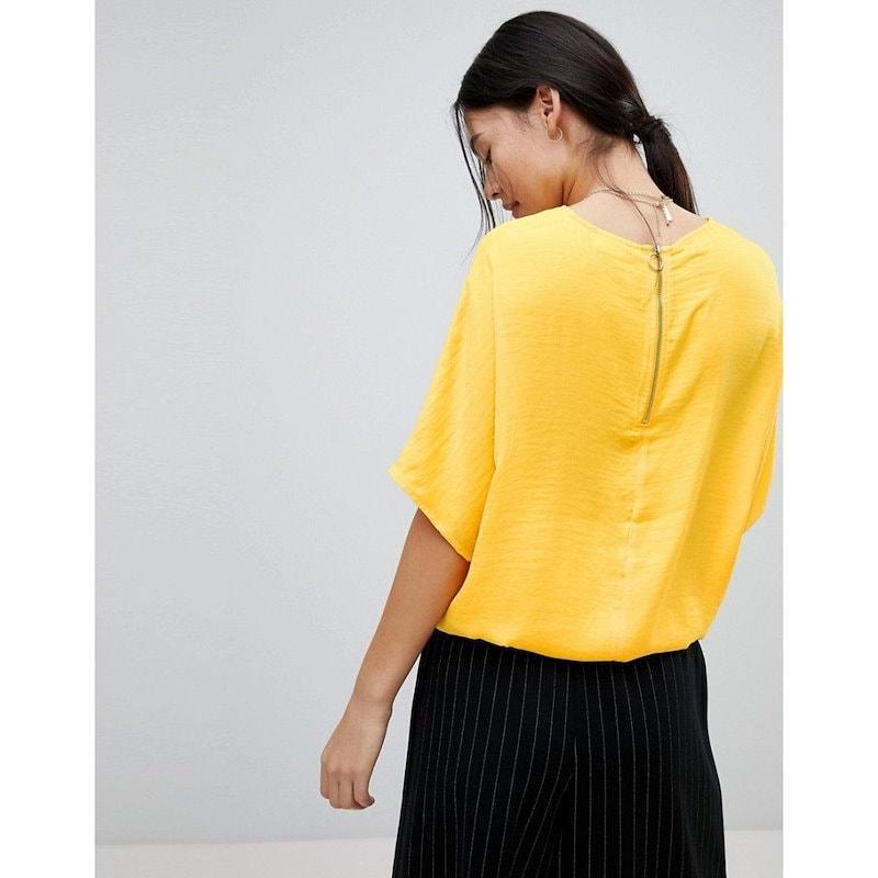 ノイズィーメイ レディース トップス【Noisy May Drawstring Tie Top】Yellow
