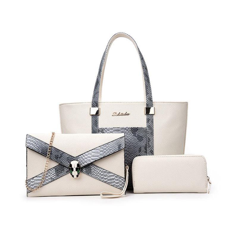 (3 SET)【予約 / 送料無料】レディースファッション三点セットバッグ/ショルダーバッグ/トートバッグ/サイフ/通勤/大容量/使い便利な女子鞄/ 4 colors