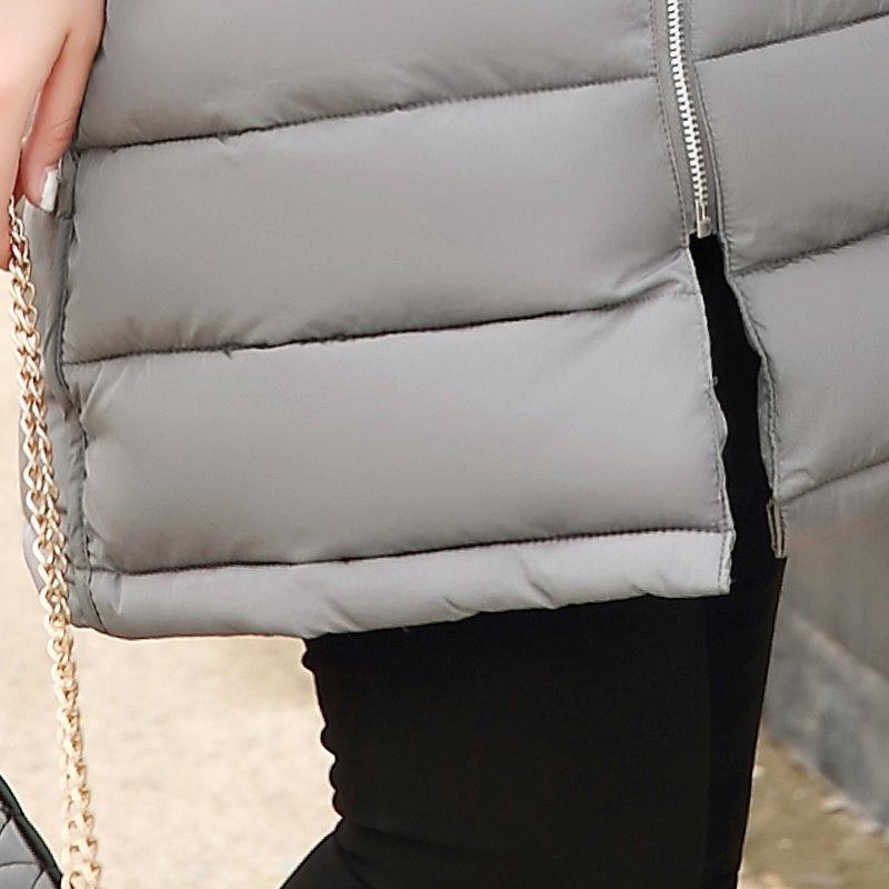 Kuyomens女性の綿が詰めジャケット2016最新冬の厚みのロングスリムダウンパーカーの高品質プラスサイズのフード付きの女性のコート