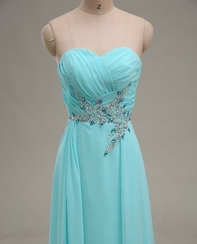 Elegant Blue evening dress for party for prom 2014 floor length long evening party prom dress homeco