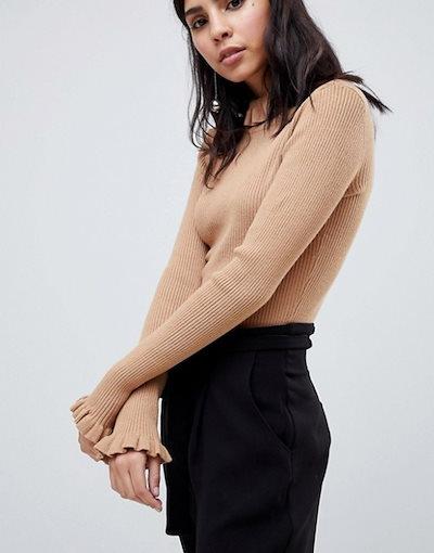 ワイエーエス レディース ニット・セーター アウター Y.A.S Oda Frill Neck And Sleeve Sweater