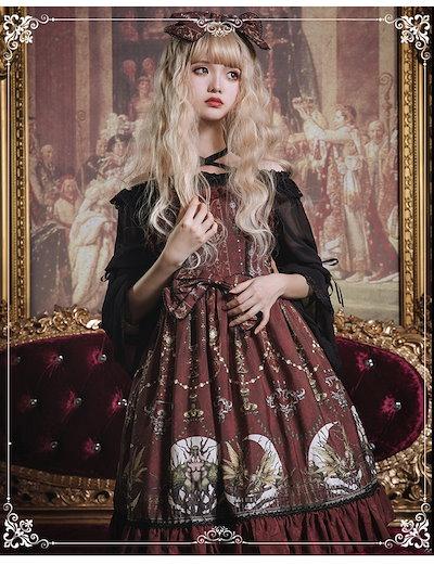 姫さまのお店ゴスロリワンピース スカートゴスロリロリータ ジャンパースカート パンク ゴシック コスプレ メイド コスチューム 衣装 アニメ 衣装 ハロウィン アリス ll104
