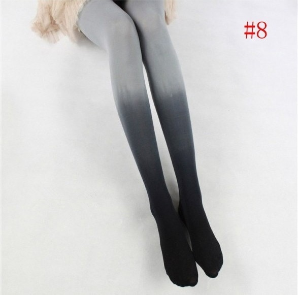 女性のセクシーなファッションカラー弾性靴下スリムオムブレレギンスグラデーションタイツストッキング