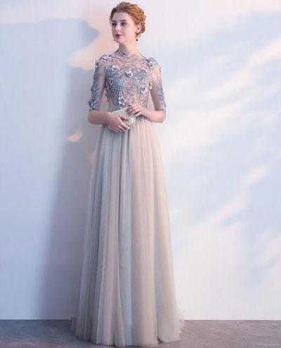 豪華なパーティードレス 結婚式 二次会 司会者 舞台衣装 写真撮影 花嫁 ロングドレス 中袖 上品 20代 30代 40代 新作