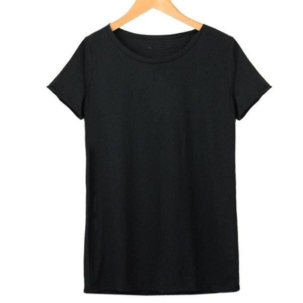女性ファッション夏の白い後ろ中空の天使の羽ラウンドネック半袖Tシャツ