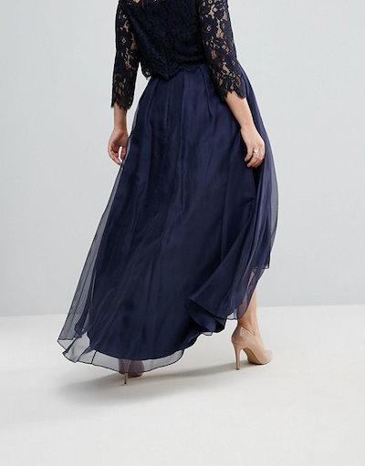 Coast  レディース 大きめサイズ ゆったりサイズ  送料無料 Navy Plus Iridessa Skirt