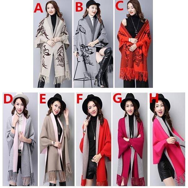 ニットカーディガン♡コート マント 春秋にのゆったりセーターの外をかけて   韓国ファッショ  秋冬  ドルマン