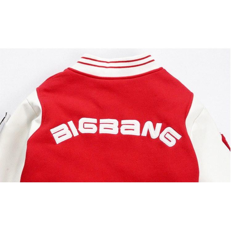\5個腕章付!/韓流グッズ bigbang スタジャン G-dragon GD 野球服 bigbang ジャンパー ファンミーティングで着用したパーカー/ bigbangファッション/スウェット/男女兼用/G-DRAGON/BIGBANG/bigbang 服/ビックバン/HBA/ペアルック/GD