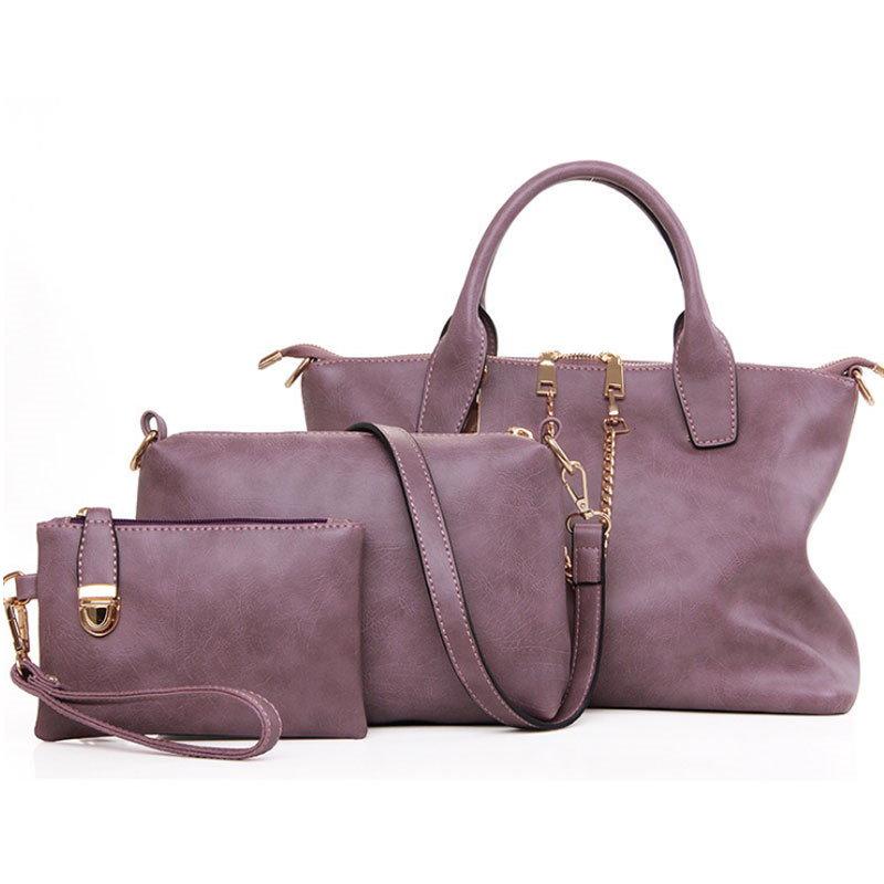 【予約 / 送料無料】3点セットバッグ/通勤/ショッピング/普段用/レディースファッションバッグ/ショルダーバッグ/ハンドバッグ/ポーチ/大活躍人気鞄/ 2 styles