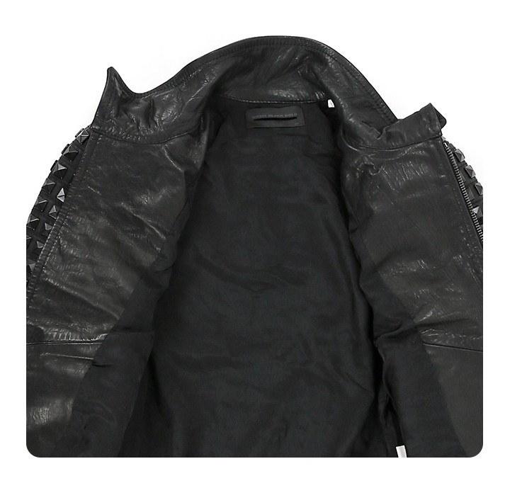 ディーゼルブラックゴールド DIESEL BLACK GOLD レザージャケット レディース 雄牛革 本革 スタッズ 鋲 スタンドカラー 革ジャン LINLY die-l-o-78-513