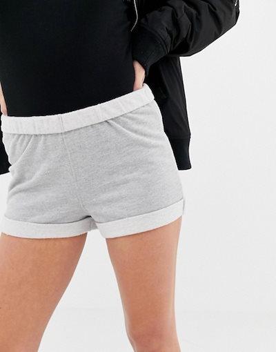 エイソス レディース ハーフパンツ・ショーツ ボトムス ASOS DESIGN fold over waist super soft sweat short
