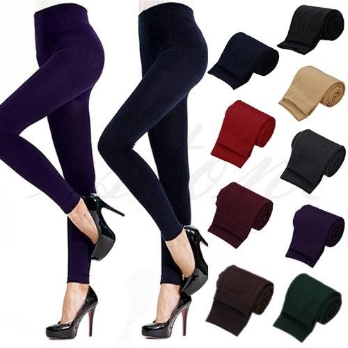 女性のファッションカジュアルウォームフェイクベルベットウィンターレギンスレディースレギンスニット厚手スリムフィットネスサプリ