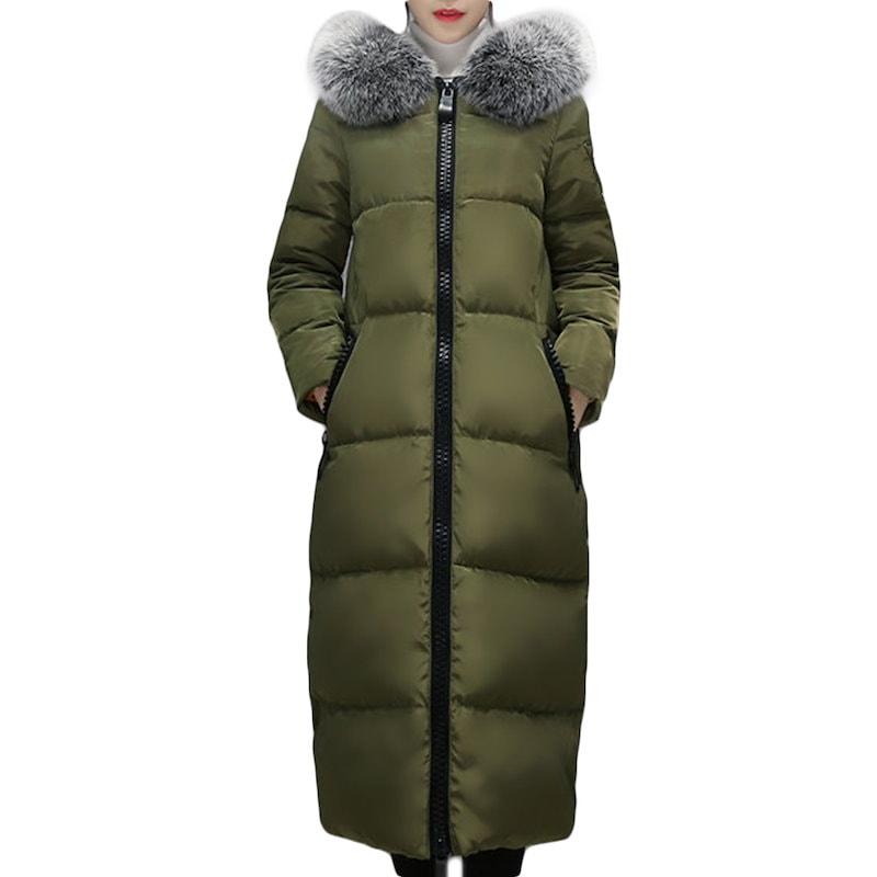 ダウンコート フード付き 無地 ロング丈 ミモレ丈 ダウンジャケット 冬 ショートコート レディース アウター 防寒 厚地 あったか ロングコート ファー 女の子
