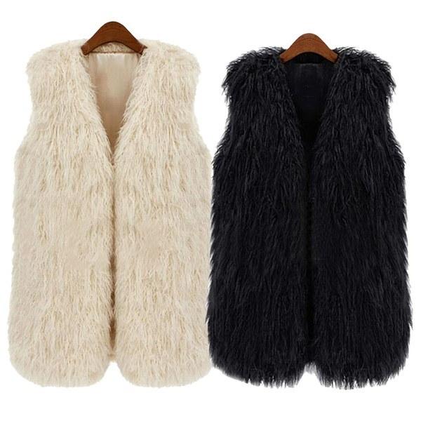 Autumn Winter Lady Short Paragraph Waistcoat Gilet Women Faux Fur Vest Sleeveless Jacket Coat Christ