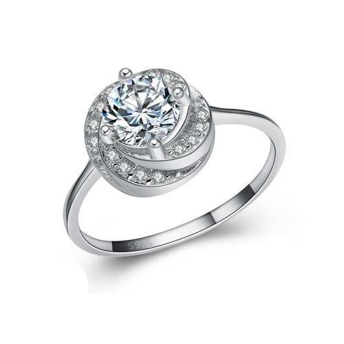 925スターリングシルバーファッションデザイン女性のリングギフト結婚式婚約パーティーギフトバンドジュエリーリング