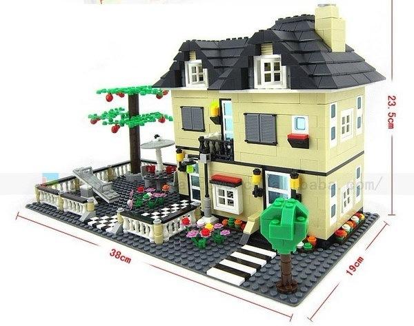 816個超大ヴィラビルディングブロック食卓のおもちゃ構造ブロックワンゲヴィラレンガブロックGi