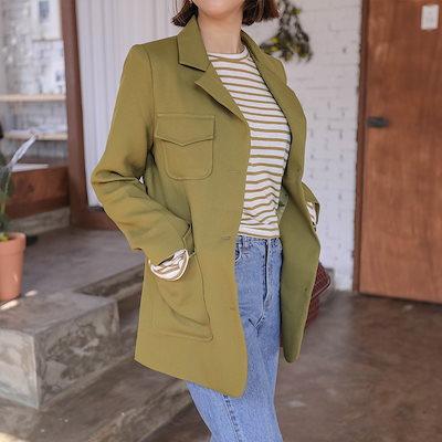 PPGIRL(韓国ファッション)♥送料 0円★PPGIRL_C815 Prince jacket_belt set / basic jacket / pocket / long sleeve / autumn outer