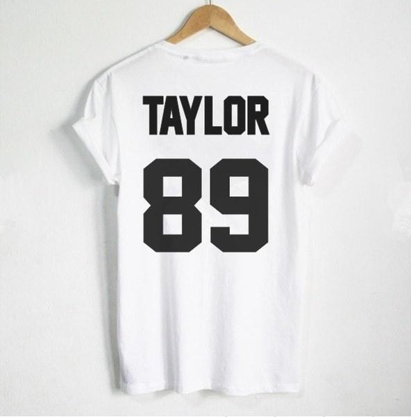 スウィフトTシャツテイラー89プリントバックサイドTシャツレディースTシャツカジュアルコットンファニーシャツZA