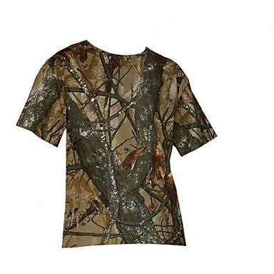 メンズアウトドアカモフラージュ通気性Tシャツアウトドアカモハンティング釣りカモサマースーツ(Tシャツ+ショート