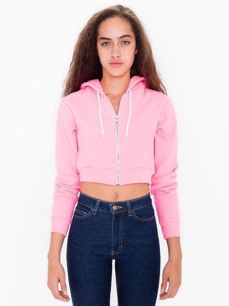 2017春のファッションカジュアルロングスリーブショートクロップドパーカージッパーボマージャケット女性の綿の汗