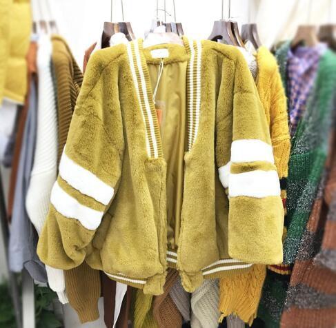 トップス/ニット/セーター/秋冬/長袖/華やか♪暖かい人工ファー・ロングチョッキ