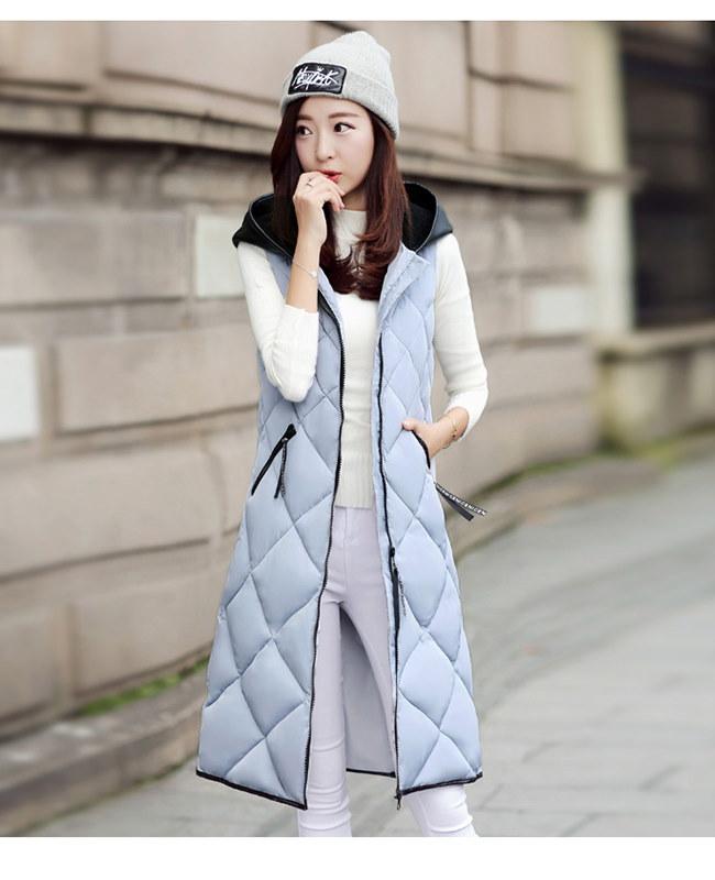 ロングベスト レディースファッション  ベスト  ジャケット 韓国 ファッション シンプル 純色  ロングタイプ 中綿入りコート 防寒 秋冬新作 大きいサイズ アウター 前開き チョッキ ベスト ルームウエアでもアウターでも もふもふ おしゃれ 上品 シルエット コーディネート ベーシック 無地 合わせやすい キレイ ベスト レディースファッション アウター